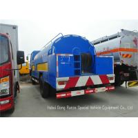 Buy cheap Stainless Steel Liquid Tank Truck / Water Tanker Truck With High Pressure Jetting Pump from wholesalers