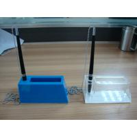 Buy cheap Acrylic Stationery Holder , Plexiglass Pen Holder With Notes Box product
