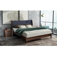 Buy cheap 2017 New Walnut Wood Bedroom Furniture Nordic design King size bed from wholesalers