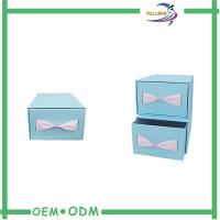 Buy cheap Custom Sliding Paper Gift Boxes Blue / Brown Cardboard Paper Drawer Box from wholesalers