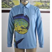 Buy cheap Custom Dlong Sleeve Fishing T Shirts , UV Protection Fishing Shirts Full Sizes from wholesalers