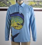 Buy cheap Custom Dlong Sleeve Fishing T Shirts , UV Protection Fishing ShirtsFull Sizes from wholesalers
