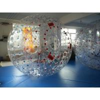 Buy cheap Red Dot 0.8mm PVC Inflatable Zorb Ball , Inflatable Human Hamster Ball 3m x 2m Dia from wholesalers