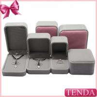 Buy cheap Velvet Fabric Satin Cloth Plastic Rigid Jewelry Necklace Pendent Boxes from wholesalers