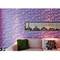 Buy cheap Modern Wall Covering , Purple Geometric Removable Wallpaper For Bedding Room from wholesalers