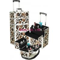 Buy cheap Aluminum Cosmetic Trolley Case Light Weight , Hard Zebra Makeup Case from wholesalers