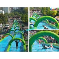 Buy cheap 1000 Feet Giant Splash Inflatable Water Slide , Commercial Water Slides from wholesalers