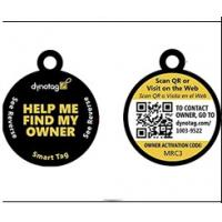 Buy cheap Blank Sides QR Code Pet Tag Round Shape Match With Microchip 15 Digits from wholesalers