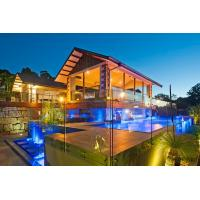 Buy cheap Free design tinted glass balustrade with stainless steel patch fitting product