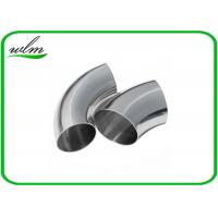 Buy cheap Durable Sanitary Butt Weld Fittings 45 / 90 / 180 Degree Bends Elbows Fittings from wholesalers