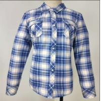 Buy cheap Muti Color Ladies Fleece Jackets , Soft Ladies Cotton Check Shirt Skin Cared from wholesalers