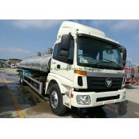 China FOTON Polished Stainless Steel Tanker Trucks 18000liters for Drinking Water , Liquid Food ,oil on sale