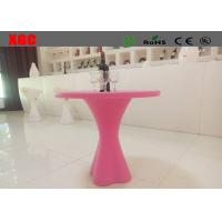 China Round Shape Plastic Outdoor Furniture Cocktail Table for Coffee Shop on sale