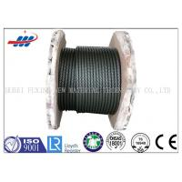 Buy cheap Black Elevator Steel Wire Rope , Left / Right Lay Wire Rope Cable 6-48mm Gauge from wholesalers