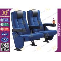 Buy cheap High Back Heavy Spring Fixed Theatre Seating Chairs With Plastic Cup Holder from wholesalers