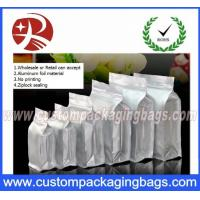 Buy cheap Flat Bottom Ziplock Aluminum Foil Bags For Coffee Bean / Heat Seal Foil Bags from wholesalers