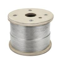 China Cable Railing 1000ft Stainless Wire Rope , 1/8 Stranded 1x19 airplane cable on sale