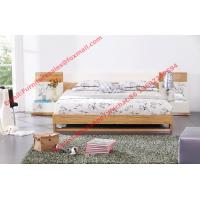Buy cheap Modern bed furniture by oliver melamine MDF Bed and white glossy nightstand product