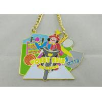 Buy cheap 3.5mm Color Clown Logo Personalized Carnival Medal For Kids With Gold Chain from wholesalers