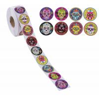 Buy cheap 1000 Count Paper Label Tags , Kids Mexican Sugar Skull Self Adhesive Labels from wholesalers
