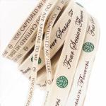 Buy cheap 100% Natural Custom Printed Ribbon , Personalised Cotton Ribbon Eco - Friendly from wholesalers