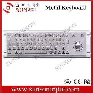 Buy cheap kiosks manufacturer stainless steel metal keyboard with trackball IP65 IK07 water proof anti-vandalism rugged keyboard from wholesalers