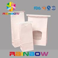 Buy cheap White Kraft Paper Flat Bottom Window Bags With Tin Tie , Chia Seed Packaging from wholesalers