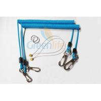 Buy cheap Sky Blue Stopdrop Plastic Coil Lanyard 18CM With Zinc Alloy Hooks product