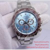 Buy cheap Replica Rolex Daytona Watch 116506 50th Anniversary Brown Ceramic Ice Blue Dial 42mm from wholesalers
