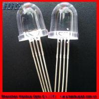 Buy cheap 10mm Bullet Four Legs RGB LED Diodes (HH-10A0CAW878) product