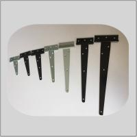 Buy cheap Plastic Spray T Strap Hinges , Barn Door Strap Hinges Black Color For Fence Door from wholesalers