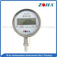 Buy cheap Industrial Digital Water Pressure Gauge , 100mm Electronic Hydraulic Pressure Gauge from wholesalers