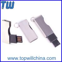 Twist Shinning Metal Usb Thumbdrive Blade Type with Free Key Ring