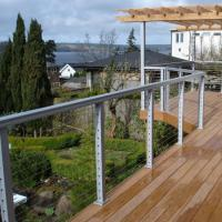 China Modern outdoor deck Railing design Stainless Steel Handrail Wire Balustrade cable railing on sale