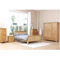 Buy cheap Commercial Real Solid Wood Platform Bed , Traditional Light Wood Bedroom Furniture from wholesalers