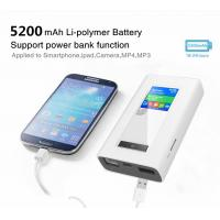 Buy cheap RJ45 port 4g router with dual sim card slots and 5200mAh power bank from wholesalers