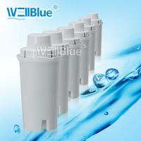 Buy cheap Active Carbon / Resin Water Jug Filter Cartridges For Water Purifier White Color from wholesalers