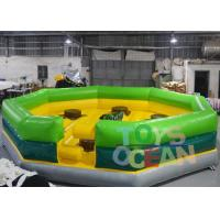Buy cheap 6x6m Custom Color Inflatable Meltdown Game Crazy Interactive Wipeout Machine from wholesalers