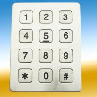 Buy cheap Dustyproof Metal Keypad With 10 Numerical Keys For Telephone , Koisk from wholesalers