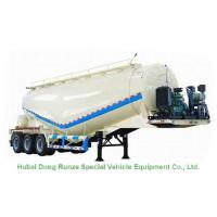 Buy cheap Steel Bulk Powder Cement Hauling Trailers , Cement Semi Trailer 58cbm 3 Axle from wholesalers