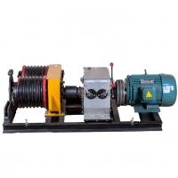 Buy cheap Safe 5 Ton  Double Drum Electric Cable Pulling Winch Machine for Power Construction from wholesalers