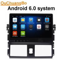 Buy cheap Ouchuangbo 1024*600 Touch Screen Car DVD Player android 6.0 for Toyota Vios 2014 with WIFI Radio Stereo GPS DVR product