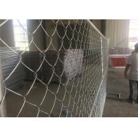 Buy cheap Construction Portable 8 Ft Chain Link Fence Panels Low Carbon Steel Wire from wholesalers