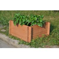 Buy cheap Eco-Friendly Brown WPC Outdoor Furniture , Square Wood Plastic Composite Flower Pot from wholesalers