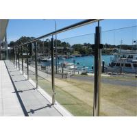 Buy cheap Modern Stainless Steel Glass Balcony Railings , Clear Laminated Glass Railing from wholesalers