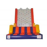 Buy cheap Outdoor Games Inflatable Rock Climbing Wall 0.55mm PVC Tarpaulins Waterproof from wholesalers