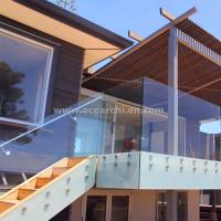 Buy cheap Frosted Glass Privacy Screens / Frameless Glass Railing with Standoffs from wholesalers