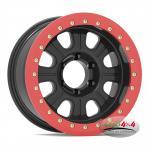 Buy cheap Factory Price Alloy Black 17x9 Beadlock 4x4 Rim Wheel 16X7 PCD 5X114.3 8 Spoke steel beadlock wheel from wholesalers