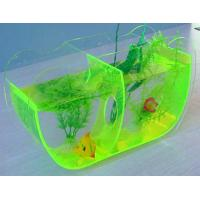 Buy cheap Custom Green 8mm Transprent Acrylic Fish Tank 60 * 40 * 30cm product