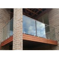 Buy cheap Stainless Steel Handrail Exterior Tempered Glass Balcony Railing from wholesalers
